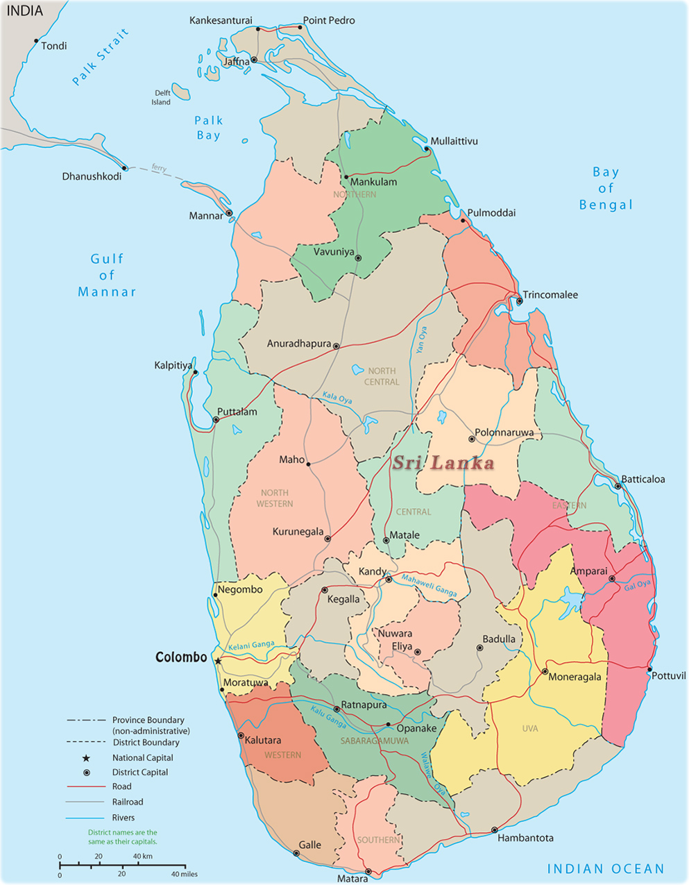 Sri Lanka Map | New Calendar Template Site