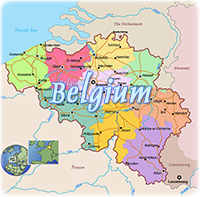Political map Belgium