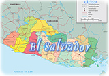 El Salvador political map